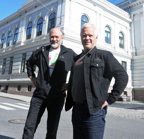 SA NEI: Rødt i Skien, ved Ørnulf Hjort-Sørensen og Rune Mathisen, vil gjerne samarbeide, men to punkter gjorde at de måtte avvise et forslag til avtale om en politisk plattform.