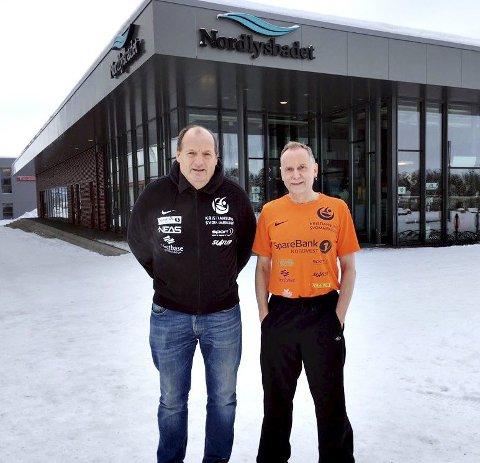 Terje Ovesen (til venstre) og Rolf Skeide vant gull i NM.