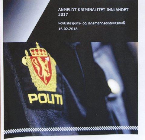Kriminalitet: Oversikten syner fordeling og utviklinga i kvart av dei 12 geografiske distrikta i Innlandet politidistrikt.