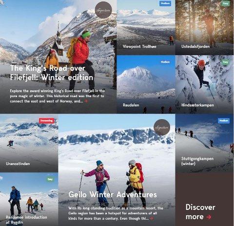 Digital satsing: Mountains of Norway legg stor vekt på å satse digitalt i konkurransen om turistane.