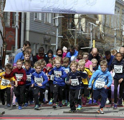 Barneløp: Rundt 75 unger startet i barneløpet.