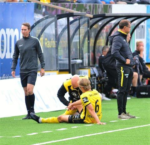 SKADET IGJEN: Snorre Strand Nilsen skadet kneet i en duell tidlig mot Kongsvinger og kan være ute i flere uker.