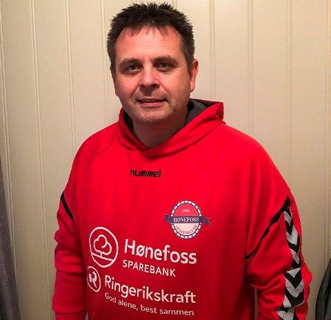 Ole Ragnar Dihle, lagleder i Hønefoss SK håndball.