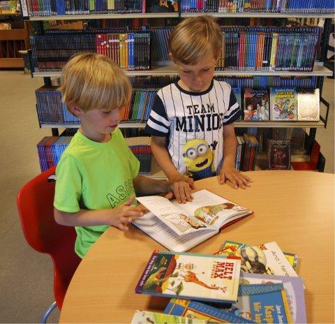 VIL LESE: Tvillingene Ulrik (6) og Nathanael Kristengård (6) gleder seg til å lære og lese. Neste år er de gamle nok til å delta i Sommerles-konkurransen.