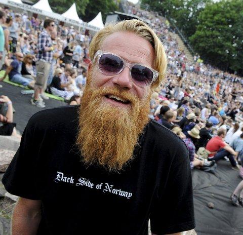 Christoffer Røds skjegg er et vanlig skue under Slottsfjellfestivalen, men ikke ta på skjegget hans!