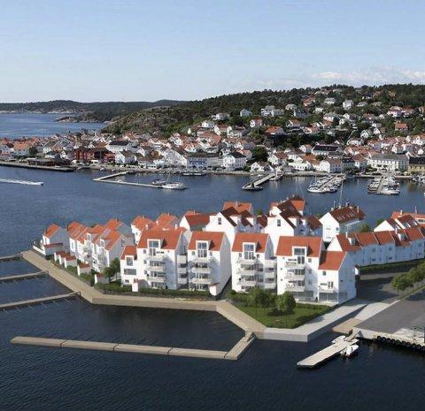 80 prosent av første salgstrinn er solgt på Risørholmen. I september starter salget på salgstrinn to.