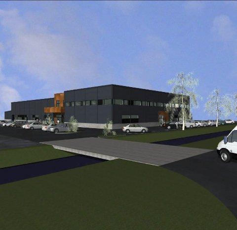 BYGG REIS DEG: Nå er planene for Resolves nye base på Moland klar. Mesel & Sønner har fått jobben med å få på plass det nye industribygget innen mars, neste år.Foto: Resolve