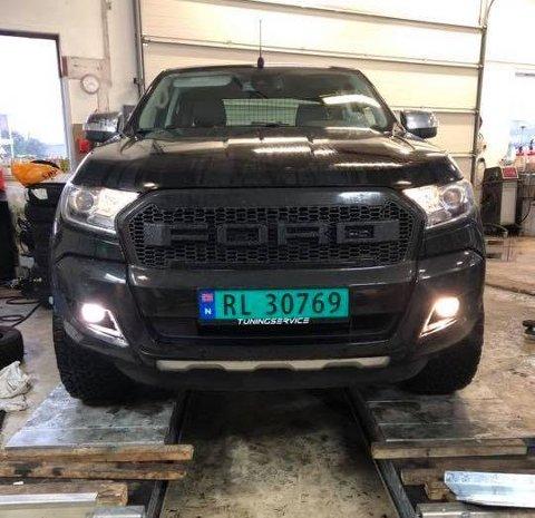 FUNNET: Nå er bilen funnet på Hamar.
