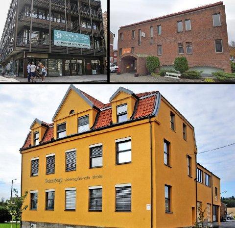 REGNSKAPENE ER KLARE: Ledelsen ved Hans Nielsen Hauge, Akademiet og Seiersborg ser frem til å ta fatt på et nytt skoleår. To av skolene gikk med overskudd i 2019.