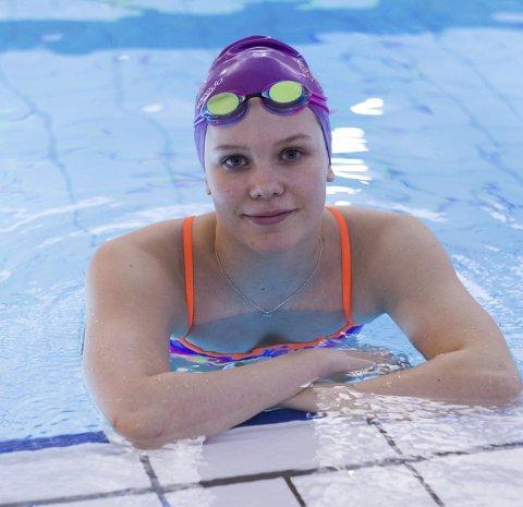 LOVENDE: Ingeborg Vassbakk Løyning er bare 18 år, men har allerede flere norske rekorder og titler.