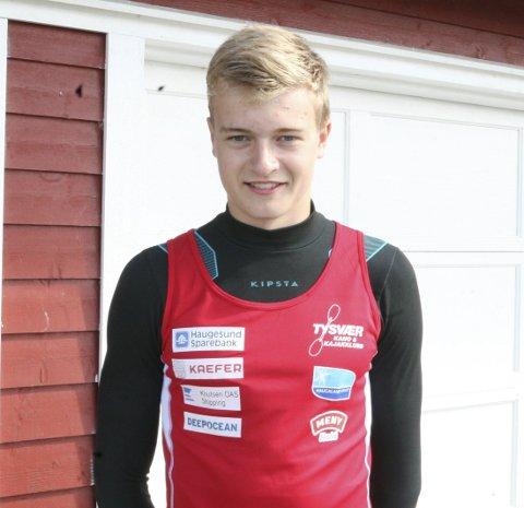 GOD SESONG: Leander Helgesen (16) har hatt en veldig god sesong og er nå tatt ut på ungdomslandslaget.