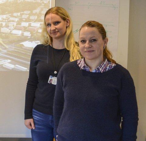BANE NOR: Marie Oppegaard og Nina Kjønigsen jobber i prosjektet Sandbukta-Moss-Såstad.