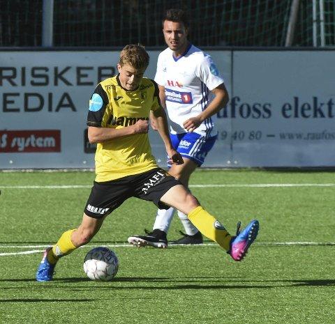 Oskar Løken scoret det femte målet da Raufoss 2 nedsablet Brumunddal 2 i OA-ligaen.