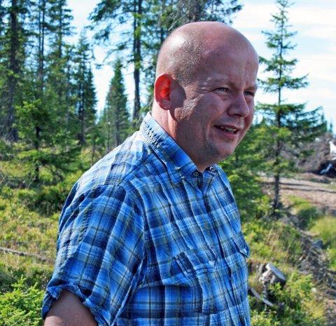 FORNØYD: Torvild Sveen mener det er på høy tid at området på Biriåsen legges ut for salg som hyttetomter.