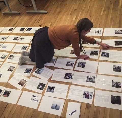 Bildeutvalg: Katinka Hustad, bilderedigerer, legger endelig hånd på bildeutvalget og setter sidene.
