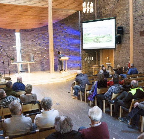 Presentasjon: Prosjektleder for Nesjar 2016, Kjersti Jacobsen, snakket både om jubileumsåret og Nesjarslaget.