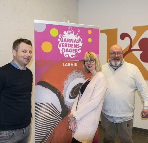 Gleder seg: Kulturskolerektor Endre Lindstøl, teamleder Anne Bente K. Johnsen og prosjektleder Håkan Salomonsson.