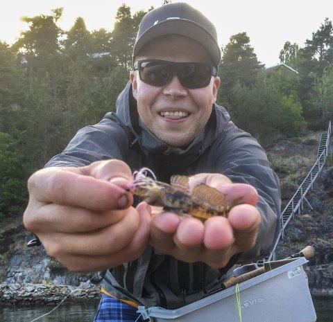 Smått: Terje Haga Olaussen fra Fjellhamar er artsjeger og tok denne kutlingen på flue ved Kragerø.