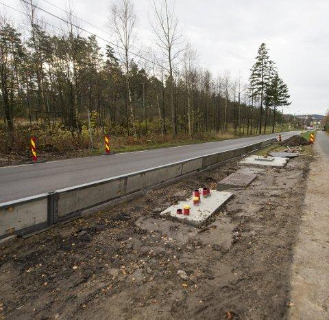 Bomring: Her kommer bomstasjonen på Veumveien. Etter planen starter innkrevingen sommeren 2018. Foto: Erik Hagen)