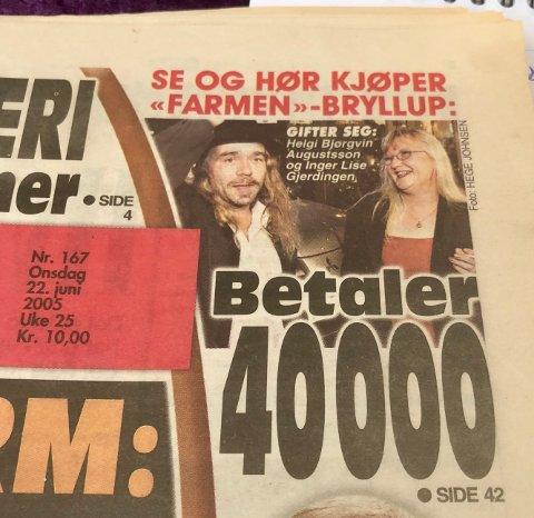 KJENDIS: Oppslag i VG før bryllupet i 2015.