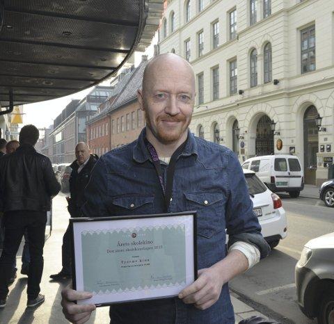 NY MILEPÆL: I 2015 ble Tysvær kino kåret til Årets skolekino. Kinosjef Øystein Simonsen kan glede seg over enda flere gjester på kinoen i 2016. ARKIVFOTO: SIGURD MOE HETLAND