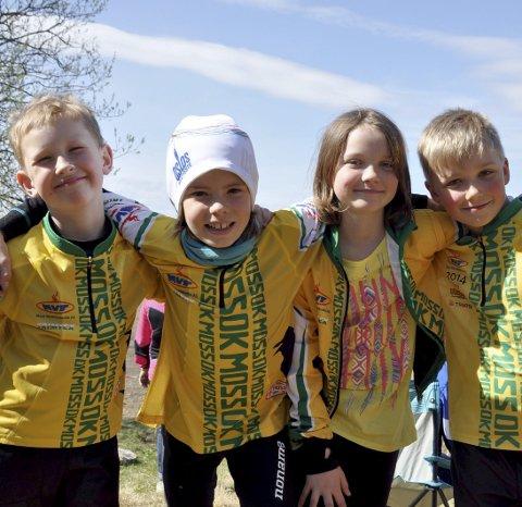 De yngste: Selmer Løken, Anders Hovgaard Eisvang, Erle Elise Wold og Brage Kristiansen.