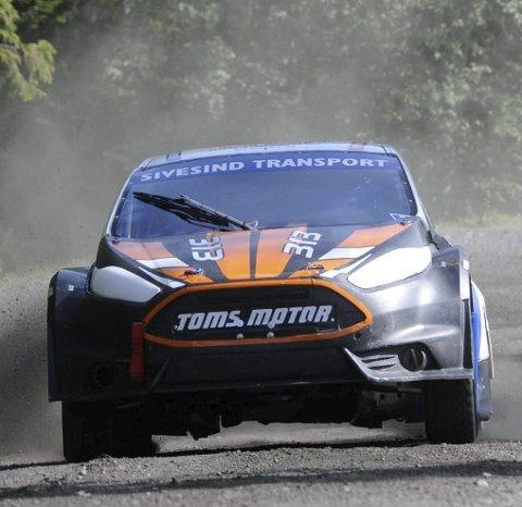 TREDJEPLASS: John Magnus Sivesind kjørte glimrende under helgas NM-runde i rallycross. FOTO. ØYSTEIN RINGSVEEN