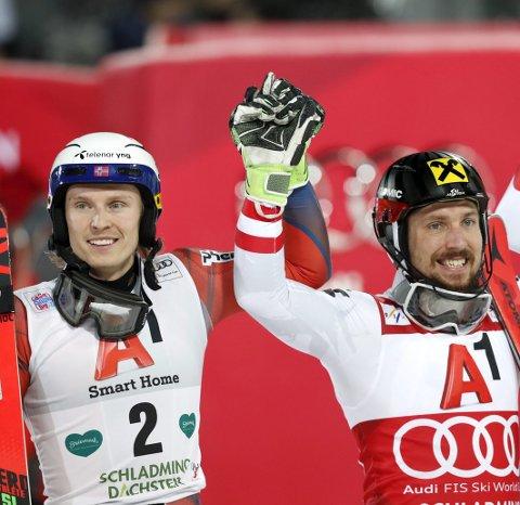 Superduell: Kristoffersen og Hirscher har kjempet mot hverandre i flere sesonger. Nå skal de duellere om OL-gull.