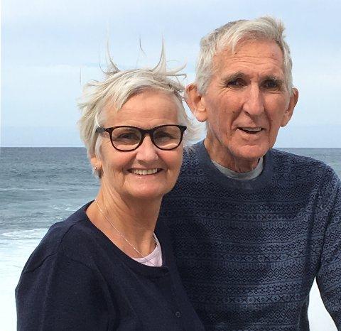 PÅ RENNESØY: Kristin Halvorsen og Sigmund Bø har oppholdt seg tre uker i hans bolig i Rogaland. De ser fram til å bosette seg i Fabeltunet på Frogner.