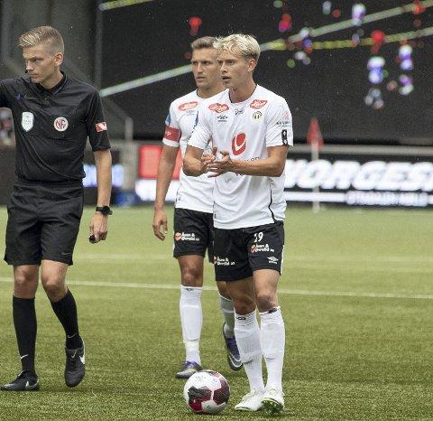 Lite tillit: Tobias Bjørnebye har slitt med å få spilletid i Sogndal. Mandag fikk han den siste halve timen da Strømmen tok med seg et sterkt bortepoeng.