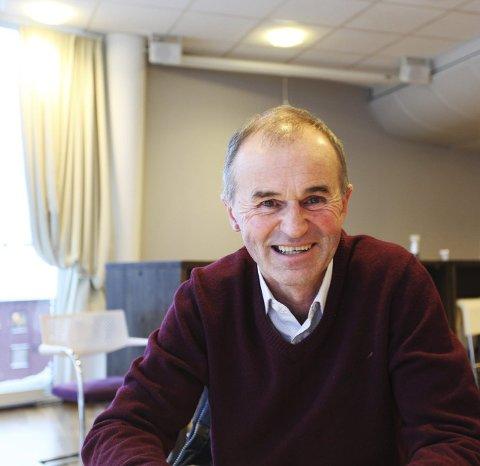NÅDDE MÅLET: Lokal aksjonssjef Jan Petter Bergan gleder seg over at mer enn fem hundre personer ønsket å gå som bøssebærer i Tønsberg i pr.