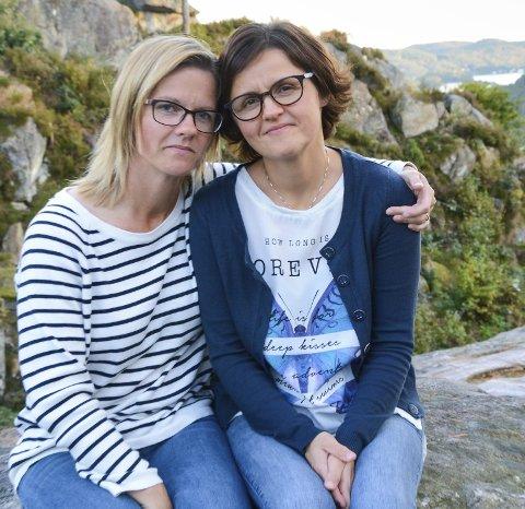 Tette Som erteris: Søstrene Kristin Jeppestøl og Line Kurtsdatter Løvdal har opplevd å miste faren sin i selvmord. - Det er skummelt med døden, og enda mer skummelt med selvmord. Vi skulle ønske det var mer vanlig å prate om det. Vi har snakket og snakket og snakket. Skulle vi båret alt inni oss, hadde vi blitt syke, sier de to.