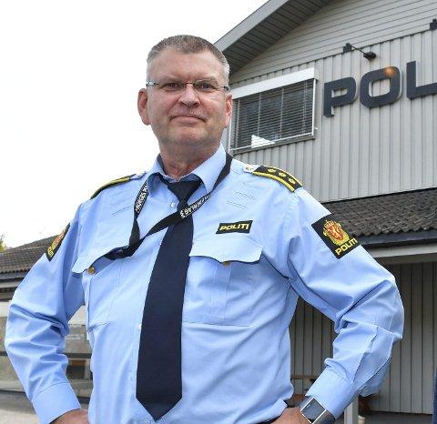 Må ut Herfra: Lensmann Odd Holum forteller at politiet må være ute av bygget på Bergsmyr innen 30. oktober. Da vil det bli etablert en midlertidig løsning, antakelig med en politikontakt på kommunehuset, før et nytt lensmannskontor kan etableres. Arkivfoto