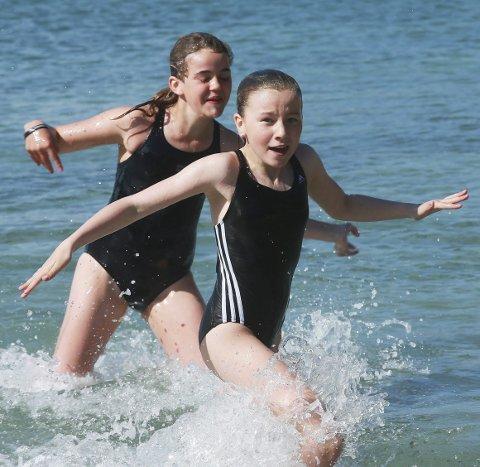 Ikke siste: Disse to har neppe tatt sitt siste bad i sommer.