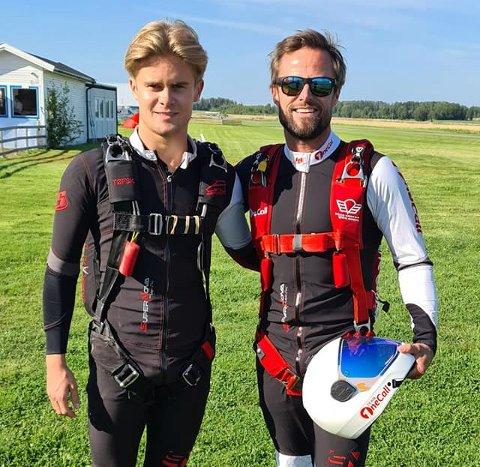 Bjørn Magne Bryn (t.h.), som er bosatt på Lillehammer, vil ha en av hovedrollene i Livet på kanten, som følger fire ekstremsportutøvere tett. Her sammen med sønnen Jakob.