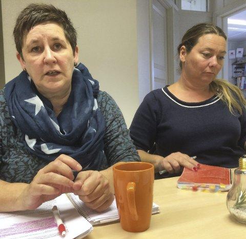 BEKYMRET: – Det virker ikke som man tar inn over seg at det blir krise, sier Eli Stokkebø og Hanne Nesfeldt. fo