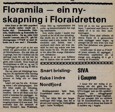 FAKSIMILE: Frå Firdaposten11. september 1979