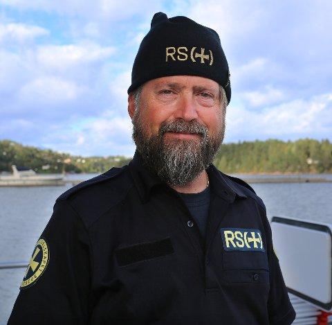 Pål Abrahamsen på redningsskøyta på Oscarsborg forventer at de må ut i vinden denne helgen.