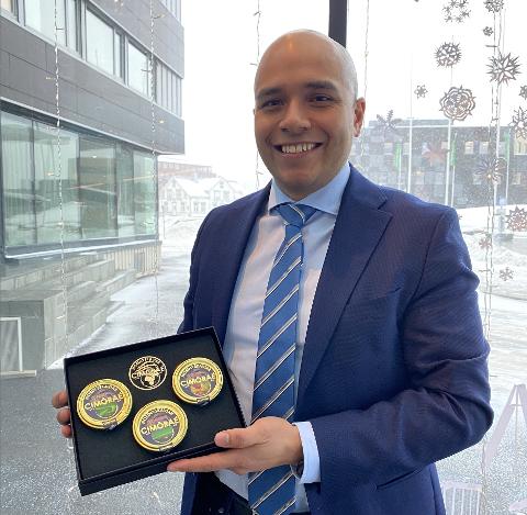 DYRT MEN BRA: Cristian M. Sæther er i Tromsø for å finne potensielle investorer i byen.
