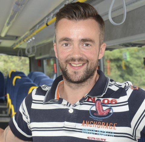 Sjefen: Daglig leder Pål Arne Sangnæs i Nettbuss Hadeland.