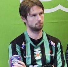 Kant: Thomas Drage i sin nye drakt i Varbergs Bois FC. Han har spilt treningskampene på venstre kant.