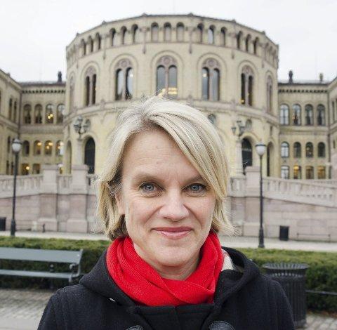 ET ØYEBLIKK: Med tidligere Nesodden-ordfører Nina Sandberg.
