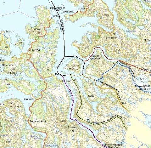 Tilbudt 120 millioner: Narvik har tilbudt Hamarøy en pakke til en anslått verdi på 120 millioner for å flytte grensen mellom de to kommunene. De kommende Hamarøy-plitikerne sier imidlertid at de forholder seg til den grensen depatrtementet har fastsatt.