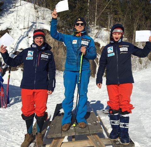 ØVERST: Didrik Langmoen Nilsen gikk til topps i et FIS-renn i Oslo lørdag. Foto: Privat