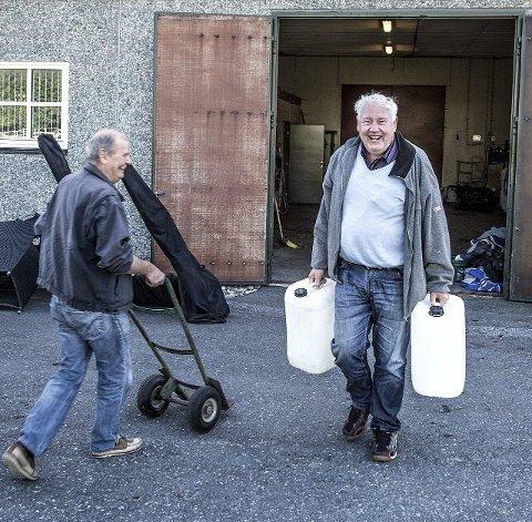 KLARE FOR MOMARKEN: Knut Grønlie (til venstre) og Gunnar «Murær'n» Karlsen er klare for Momarken lørdag. Foto: Vidar Henriksen