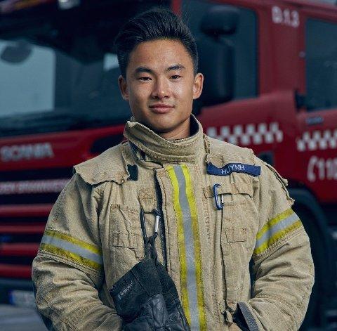 Vu Thanh Huynh gleder seg til å ta fatt på jobben som brannkonstabel i Lillehammer. Nå flytter han hjem til Lillehammer etter å ha jobbet i Asker og Bærum brannvesen i åtte år.