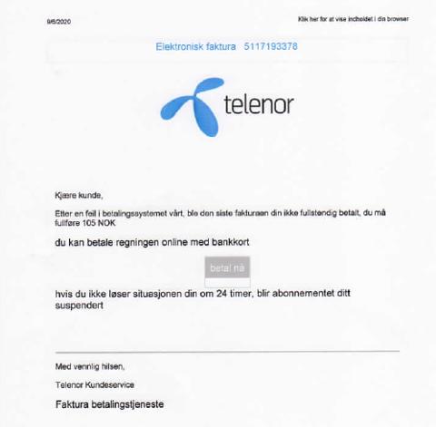 SVINDEL: Dette brevet fikk Eivind Andersen fra Raufoss sendt. Nå varsler han andre om svindelen som herjer.