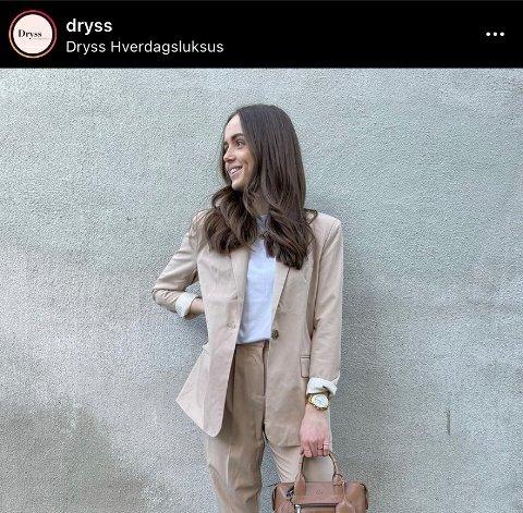MER TRØKK PÅ SOSIALE MEDIER: Anine Ringdal på Dryss styrer det meste av butikkens Instagramprofil. Det forteller butikksjef Line Jørgensen Bakke.