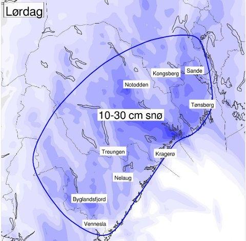 TIDDELIBOM: Det ventes mer snø på lørdag.