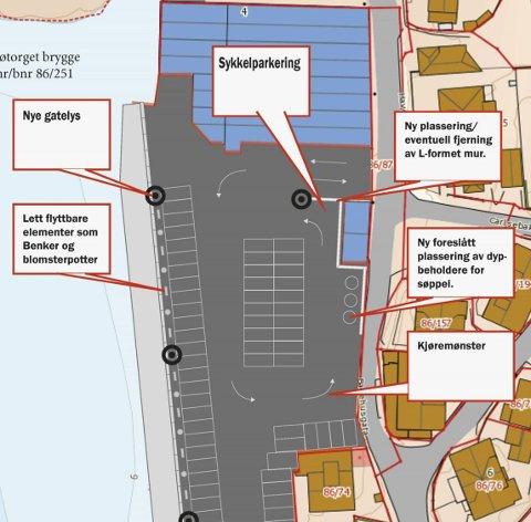 Nytt dekke: Rådmannen foreslår å fornye hele Sjøtorget. Bildetekst